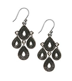 Lucky Brand® Silvertone Moveable Chandelier Earrings
