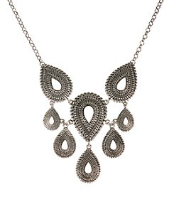 Lucky Brand® Silvertone Tribal Collar Necklace
