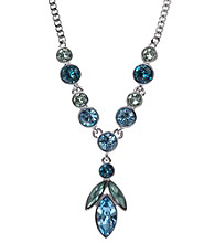 Givenchy® Silvertone & Blue Y Necklace