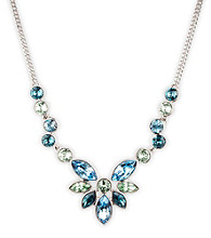 Givenchy® Silvertone & Blue Frontal Necklace