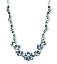 Givenchy® Silvertone & Blue Collar Necklace