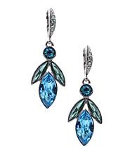 Givenchy® Silvertone & Blue Drop Earrings