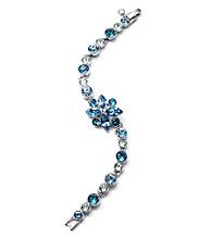 Givenchy® Silvertone & Blue Flex Bracelet