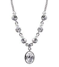 Givenchy® Silvertone & Pearl Y Necklace