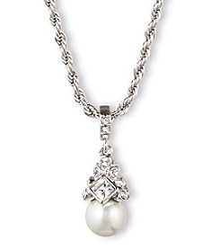 Givenchy® Silvertone Pearl Pendant Necklace