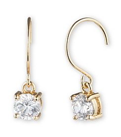 Anne Klein® Goldtone Crystal Drop Earrings