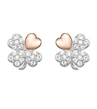 Swarovski® Goldtone/Silvertone/Rose Gold Plated & Clear Crystals Better Pierced Earrings
