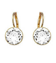 Swarovski® Goldtone/Gold Plated & Clear Crystals Bella Pierced Earrings