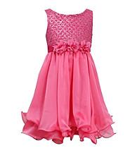 Bonnie Jean® Girls' 7-16 Pink Empire Flock Dress