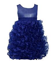 Bonnie Jean® Girls' 7-16 Navy Ruffle Dress