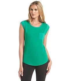 Calvin Klein Cap Sleeve T Shirt