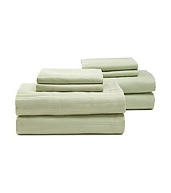 Elite Home Products Microfiber 2-pk. Stripe and Solid Sheet Set
