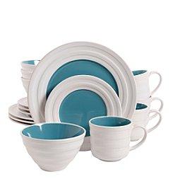 Isaac Mizrahi® Caribbean Color Turquoise 16-pc. Dinnerware Set