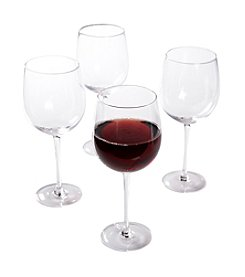 Isaac Mizrahi® Western Isle Set of 4 Red Wine Glasses