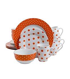 Isaac Mizrahi® Dot Luxe Orange 16-pc. Dinnerware Set