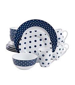 Isaac Mizrahi® Dot Luxe Navy 16-pc. Dinnerware Set
