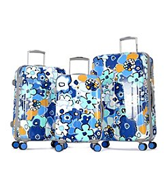 Olympia Blossom II Aqua Blue Luggage Collection