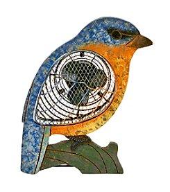 Deco Breeze Wood Bluebird Figurine Fan