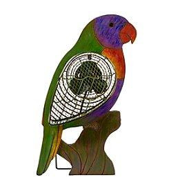 Deco Breeze Wood Lorikeet Figurine Fan