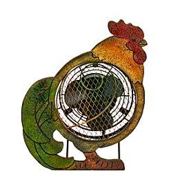 Deco Breeze Wood Rooster Figurine Fan