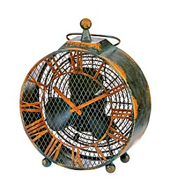 Deco Breeze Antique Clock Figurine Fan