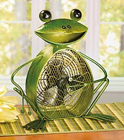 Deco Breeze Frog Figurine Fan