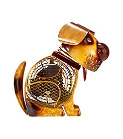 Deco Breeze Country Dog Figurine Fan