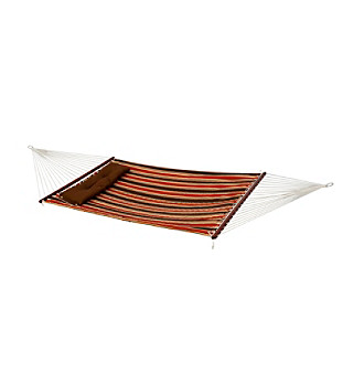 Bliss™ Hammocks 2 Person Red Stripe Quilted Hammock wi