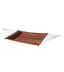Bliss™ Hammocks 2 Person Red Stripe Quilted Hammock with Pillow