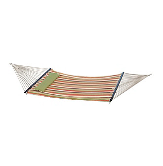 Bliss™ Hammocks 2 Person Green Stripe Quilted Hammock