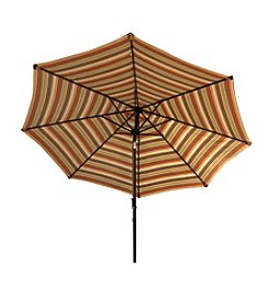 Bliss™ Hammocks 9' Green Stripe Market Umbrella with Tilt