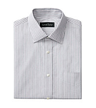 Kenneth Roberts Platinum Men's Long Sleeve Grey/Red Striped Dress Shirt