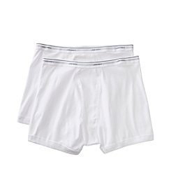 Jockey® Men's White 2-pk.Big Man Classic Boxer Briefs