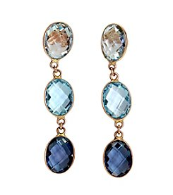 Effy® Shades of Blue Topaz Drop Earrings in 14K Yellow Gold