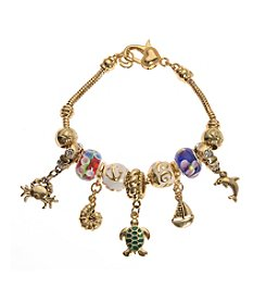 L&J Accessories Multicolor Sea Life Charm Bracelet