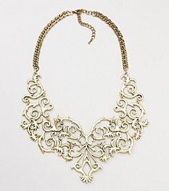 Natasha Brass Ox Vintage Statement Necklace