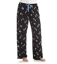 HUE® Knit Pants - Black Multi Simple Syrup