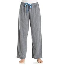 HUE® Knit Pants - Grey/Light Blue Rio Dots