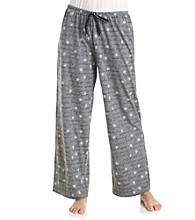 HUE® Knit Pants - Grey Multi Flower Script