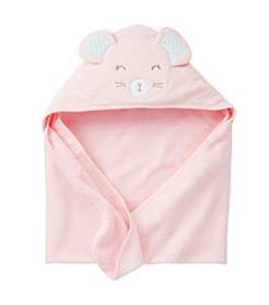 Carter's® Baby Girls' Pink Mouse Hooded Towel