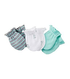 Carter's® Boys' Turquoise/Grey 3-pair Mitts