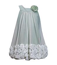 Bonnie Jean® Girls' 2T-6X Sage Sleeveless Soutache Hem Bubble Dress