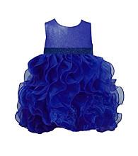 Bonnie Jean® Girls' 2T-4T Royal Blue Wire Hem Ruffle Dress