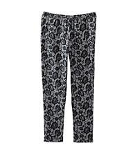 Miss Attitude Girls' 7-16 Grey Lace Printed Leggings