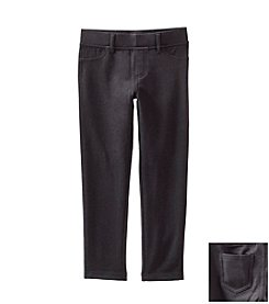 Little Miss Attitude Mix & Match Girls' 2T-6X Midnight Black Solid Jeggings