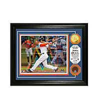 "Giancarlo Stanton ""Triple Play"" Game Used Dirt Coin Photo Mint by Highland Mint"