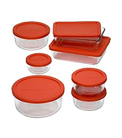 Pyrex® Storage Plus 14-pc. Storage Set with Red Plastic Lids