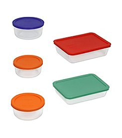 Pyrex® Storage Plus 10-pc. Storage Set with Colored Lids
