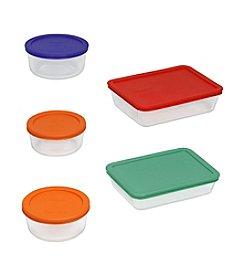 Pyrex® Storage Plus 10-pc. Storage Set with Colored Lids