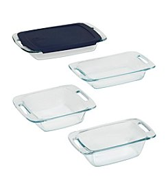 Pyrex® Easy Grab 5-pc. Bake and Store Set with Blue Plastic Storage Lid